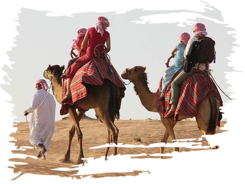 Two hour camel ride tour safari, camel riding dubai, Camel safari price-cost, camel trekking