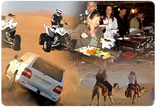 camel ride quad bike ride desert safari with bbq dinner, one hour